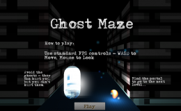 Ghost Maze is Live – October's #1GAM offering in time for Halloween!