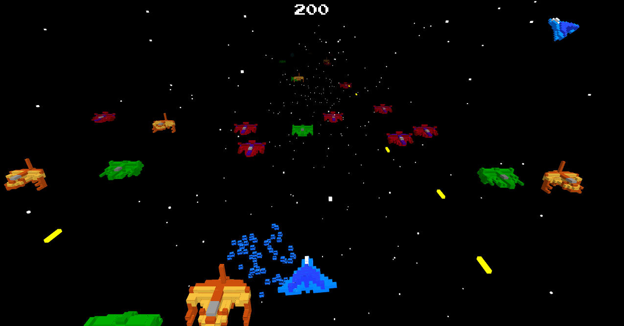 Laser Star – 3D Voxel Space Shoot 'Em Up for the #indiesvsgames GameJam